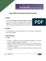 Proc.muestreo Analisis de Residuo Plaguicida
