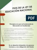 EXPOSICION- Principios de La Ley de Educación Nacional
