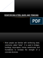 Reinforcing Steel Bars and Tendons