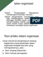 Perilaku dalam organisasi