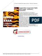 Leggere Il Libro Gengis Khan Il Guerriero Figlio Della Steppa Richard j Samuelson Scaricare