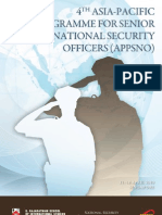 4TH ASIA-PACIFIC PROGRAMME FOR SENIOR NATIONAL SECURITY OFFICERS (APPSNO)