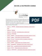Enciclopedia de La Nutrición Canina