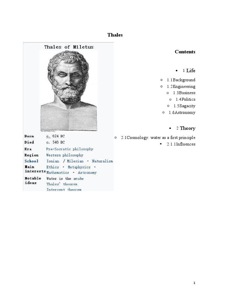 thales biography