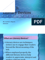 Lesson 3 Literary Devices