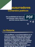 Los Susurradores. comando poéticos.