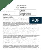 MIS - Training