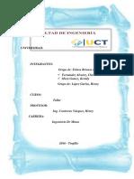 Informe de Geotecnia de San Benito