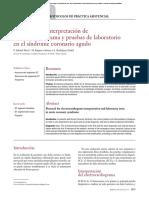 Protocolo de Interpretación de Electrocardiograma y Pruebas de Laboratorio en El Síndrome Coronario Agudo