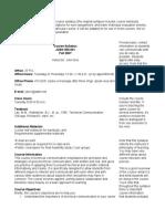 Syllabus Sample