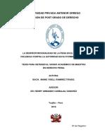 2016_tesis Maestria_la Desproporcionalidad de La Pena en El Delito de Violencia Datos_manie Ramirez_upao