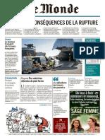 Journal LE MONDE Et Supplements Du Mercredi 29 Mars 2017