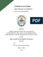 INFORME TESIS - CENTRO DE ESPARCIMIENTO POR APORTE BIOCLIMATICO