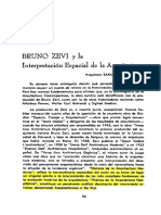 Bruno Zevi y La interpretación Espacial de La Arquitectura