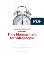 Guide to Time Management for Salespeople