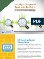Ventana Research eBook Speech Analytics Improves Key Business Matrics (Verint) 2016