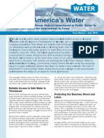 Why Rhode Island Federal Investment in Public Water to Provide Safe Water for Generations to Come
