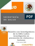 Violencia Un Problema de Salud Pública, JACV, EnERO 9,2009