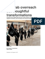No Arab Overreach but Thoughtful Transformations