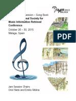 ISMIR Malaga 2015 Songbook