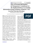 The Influence of Personal Information Capability and Management Commitment on the Success of the Implementation of Accounting Information System in Baznas of District / City Level in West Java Province
