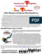 Superheroes in Disguise Screening Flyer - End of America
