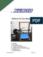 Afinibot A31 User Manual 2-24-17