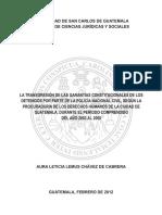 Lesión a Las Garantias Constitucionales de Los Detenidos