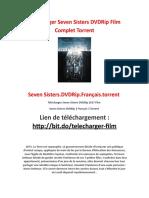 Télécharger Seven Sisters DVDRip Film Complet Torrent