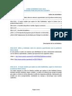 Actividades de clase CURSO ACADÉMICO 2014-2015 Dossier Altas Habilidades 2014.11.14
