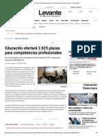Educación ofertará 2