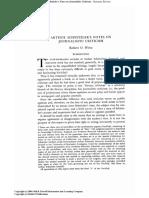 WEISS, ROBERT O., Arthur Schnitzler's Notes on Journalistic Criticism