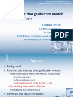 Particle Scale Char Gasification Models for Biomass Fuels