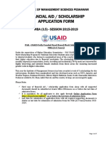 USAID Scholarship Application Form Instructions