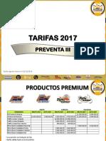 Tarifa Preventa III 2017