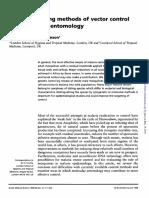 Malaria Existing Methods of Vector Control