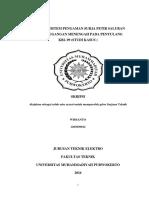 Analisis Sistem Pengaman Surja Petir
