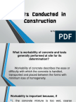 Types of Testing on Concrete