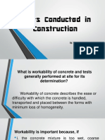 Types of Testing on Concrete