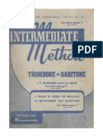 Trombone Or Baritone Trombone/baritone Rubank Intermediate Method