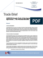 OTN - Trade Brief on CARICOM-Canada Trade and Development Agreement - The Potential Benefits
