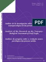 Análisis de la investigación sobre la evaluación neuropsicológica de las personas sordas.