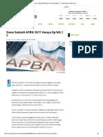 Dana Subsidi APBN 2017 Hanya Rp160,1 T - Www.inilah
