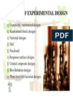 Types of Experimental Design