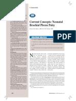 Current Concepts Neonatal Brachial Plexus Palsys