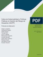 Indice de Gobernabilidad y Politicas Publicas en Gestion Del Riesgo de Desastres IGOPP Protocolo de Aplicacion