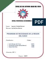 Programa de Necesidades Del Cusco