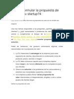 ¿Cómo formular la propuesta de valor de tu startup.docx