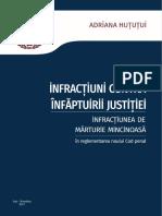 Infracțiuni contra înfăptuirii justiției - Infracțiunea de mărturie mincinoasă   Autor