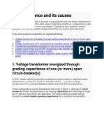 Ferroresonance and Its Causes
